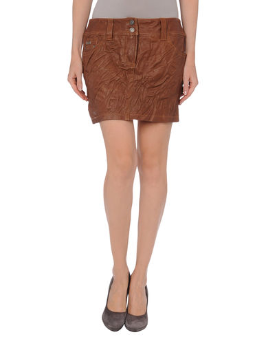 GALLIANO - Leather skirt