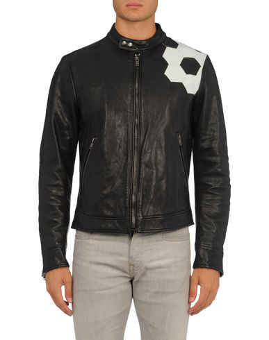 MOSCHINO - Leather outerwear