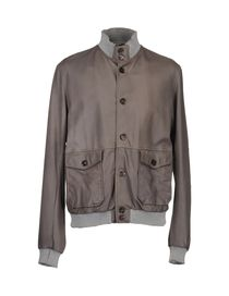 GREY DANIELE ALESSANDRINI - Leather outerwear