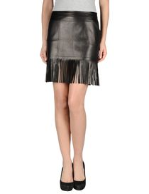 BLUMARINE - Leather skirt