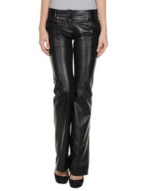BALMAIN - Leather trousers