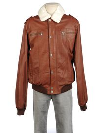 ARMANI JUNIOR - Leather outerwear