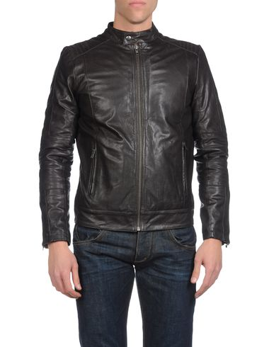 JACK &amp; JONES - Leather outerwear