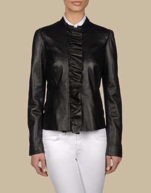 TRU TRUSSARDI - Leather outerwear