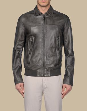 TJ TRUSSARDI JEANS - Leather outerwear