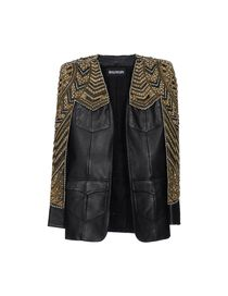 BALMAIN - Leather outerwear