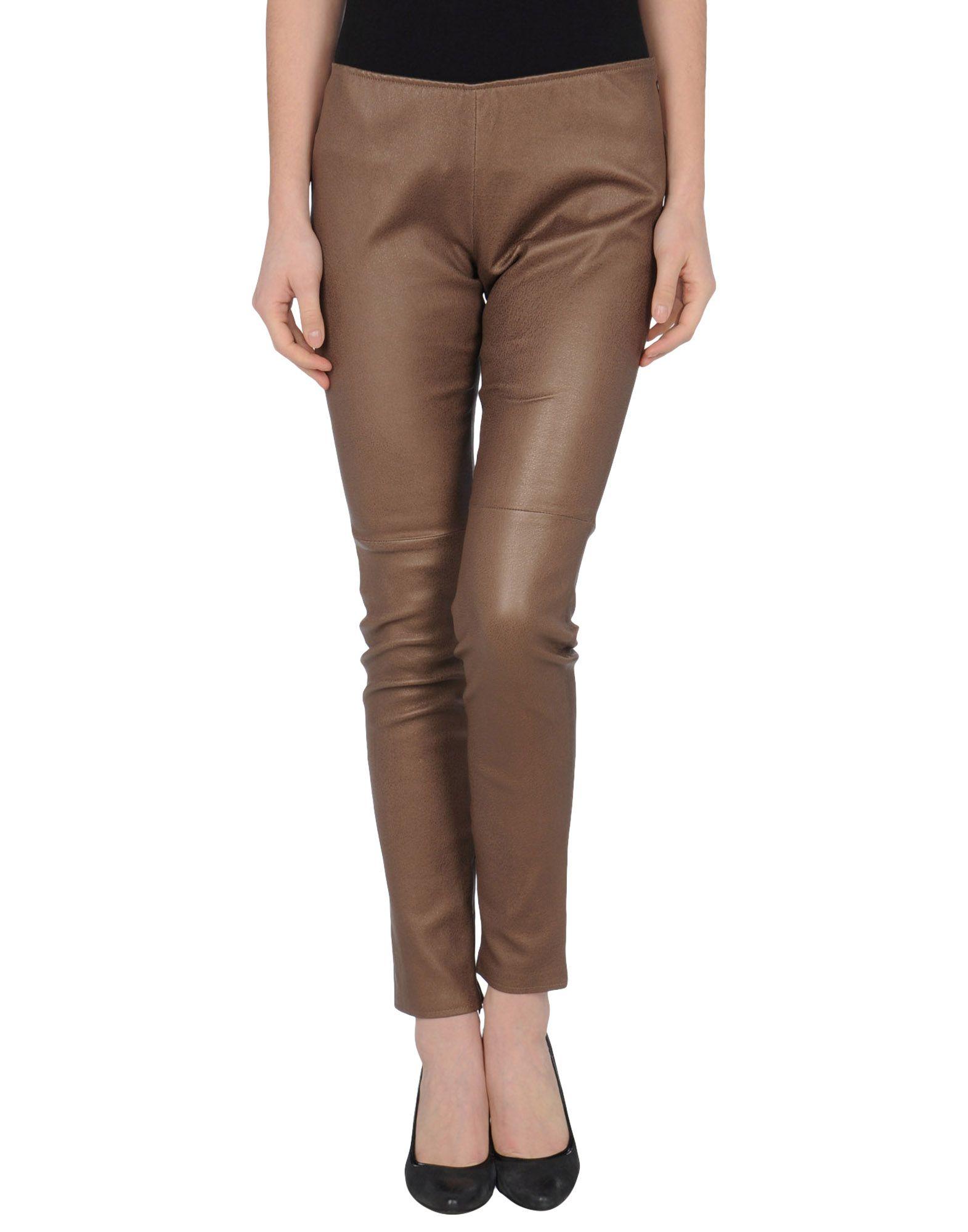 SIMONETTA RAVIZZA Leather pants