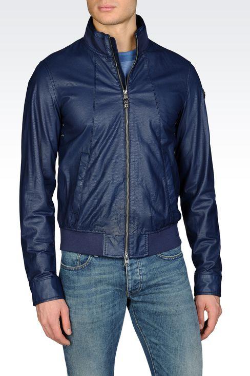Blouson cuir armani jeans