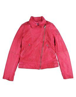 DIESEL Leather outerwear $ 175.00