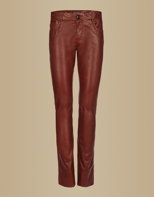 TRUSSARDI - Leather trousers