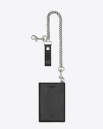 RIDER North/South CHAIN WALLET IN BLACK Leather