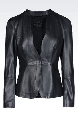 Armani Leather jackets Women jacket in nappa leather