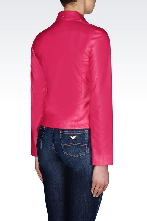 BLOUSON IN FAUX LEATHER: Dust jackets Women by Armani - 3