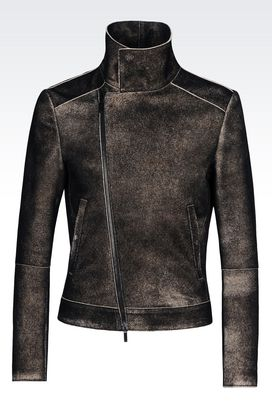 Armani Light leather jackets Men blouson in napa lambskin
