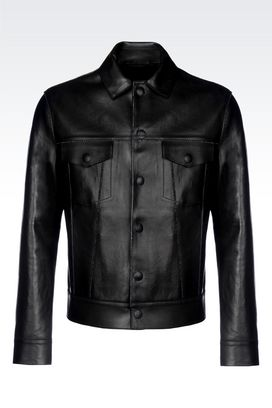 Armani Light leather jackets Men jacket in napa lambskin
