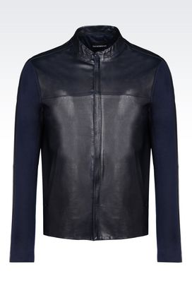 Armani Light leather jackets Men leather blouson