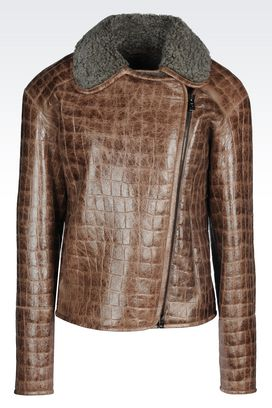 Armani Light leather jackets Women sheepskin jacket