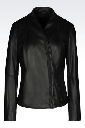 Armani Leather jackets Women jacket in napa lambskin