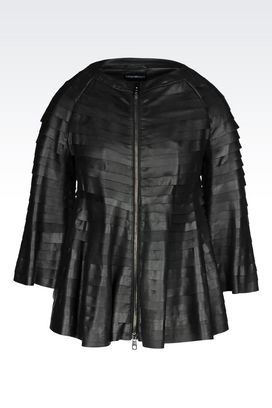 Armani Leather jackets Women leatherwear
