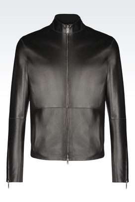 Armani Giubbotti in pelle Uomo giacca in pelle reversibile