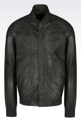 Armani Light leather jackets Men leatherwear