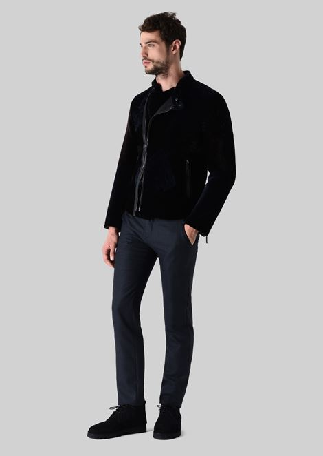 Leather: Leather Outerwear Men by Armani - 1