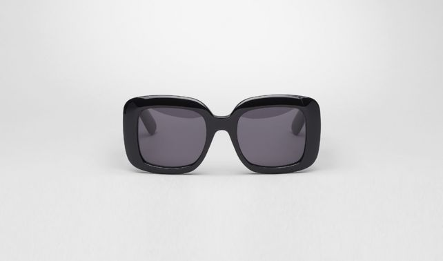 Nero Acetate Leather Eyewear BV 1000/FS Comfort Fit