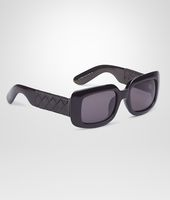 Black Grey Acetate Eyewear BV 1000