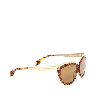 ALEXANDER MCQUEEN, Sunglasses, Metal Brow Cat Eye Sunglasses