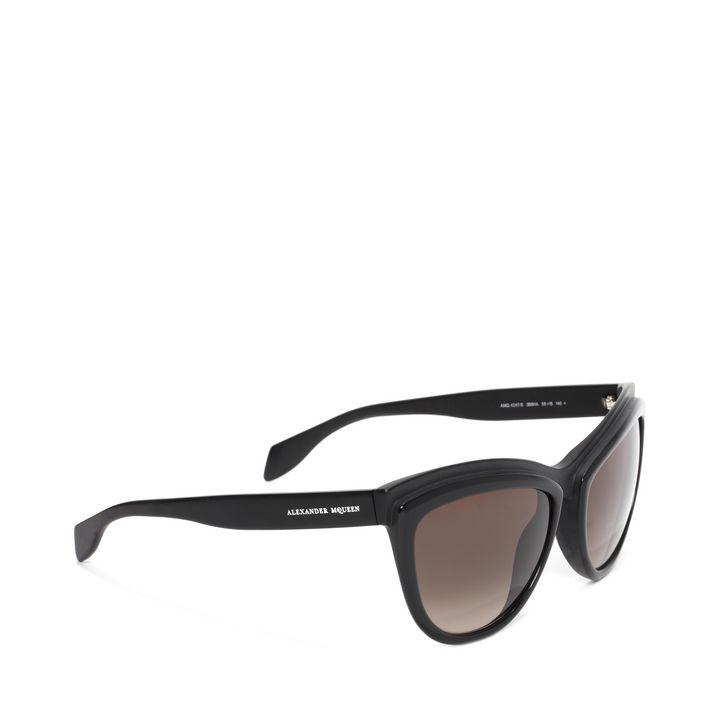 Alexander McQueen, Two-Tone Brow Detail Cat Eye Sunglasses