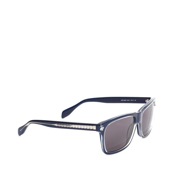 Alexander McQueen, Spine Skull Squared Sunglasses