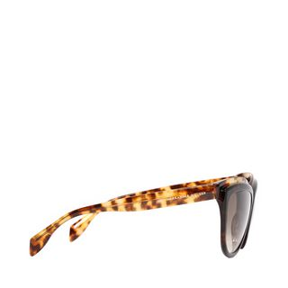ALEXANDER MCQUEEN, Sunglasses, Two-Tone Brow Detail Cat Eye Sunglasses
