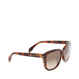 ALEXANDER MCQUEEN, Sunglasses, METALLIC CUT-OFF STUD SUNGLASSES