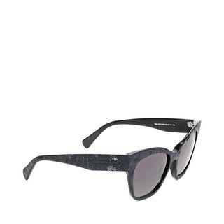 ALEXANDER MCQUEEN, Sunglasses, TEXTURED IRIDESCENT SHEEN SUNGLASSES