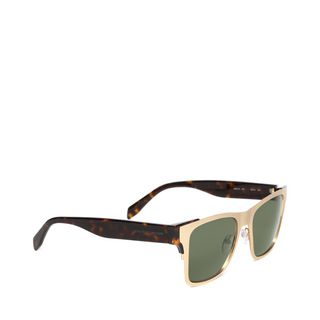 ALEXANDER MCQUEEN, Sunglasses, SCULPTED METAL RECTANGULAR FRAME