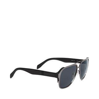 ALEXANDER MCQUEEN, Sunglasses, SCULPTED METAL PILOT FRAME