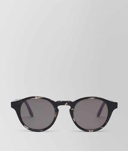 SUNGLASSES IN GREY HAVANA ACETATE WITH GRAY LENS