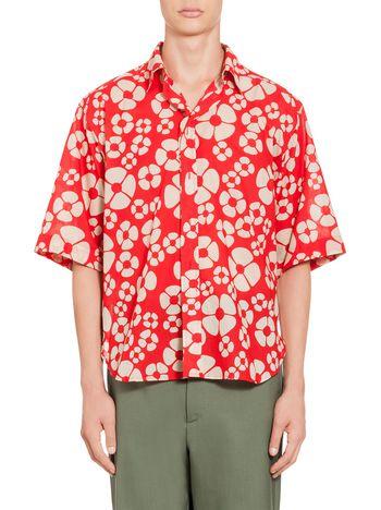 Marni Embossed shirt in voile Woodstock print Man