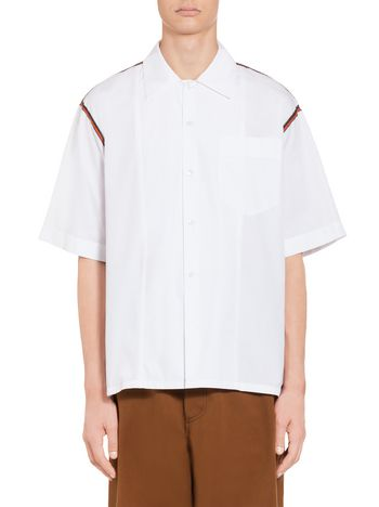 Marni Shirt in twisted cotton with knit insert Man