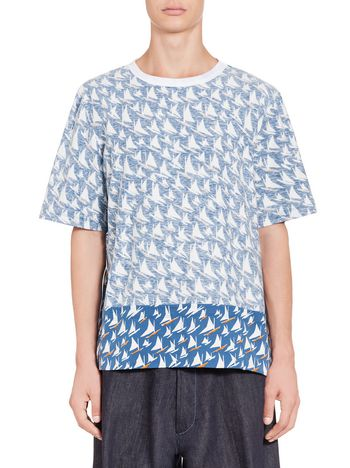 Marni T-shirt in jersey with reversed fabric Man