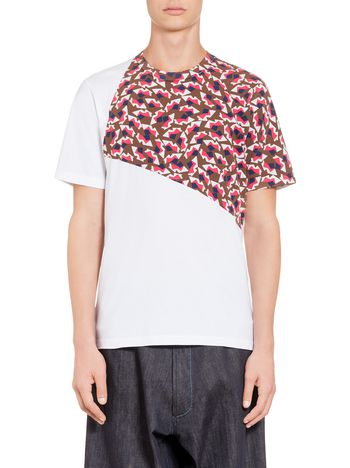 Marni T-shirt in compact jersey with frontal print Man