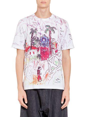 Marni T-shirt Madgalena Suarez Frimkess in compact jersey Man