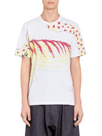 Marni T-shirt in jersey Madgalena Suarez Frimkess Man