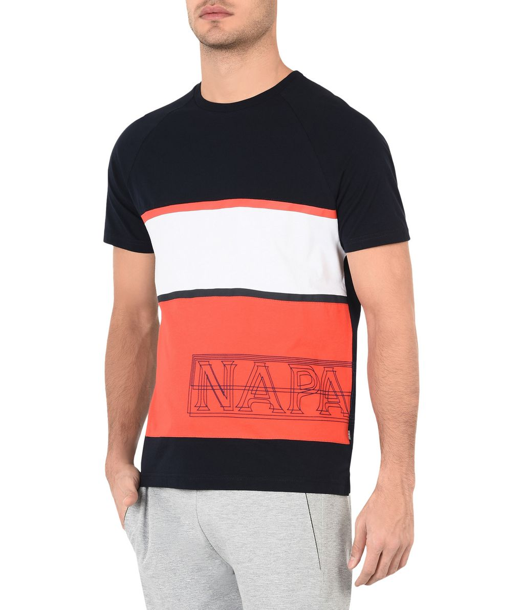 NAPAPIJRI SAFI MAN SHORT SLEEVE T-SHIRT,DARK BLUE