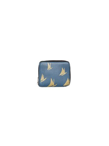 Marni Wallet in pale blue leather Sail print Man