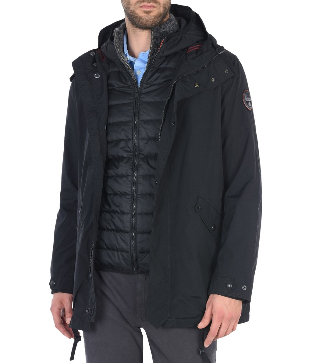 NAPAPIJRI ANNONAY 3IN1 MAN PARKA,BLACK