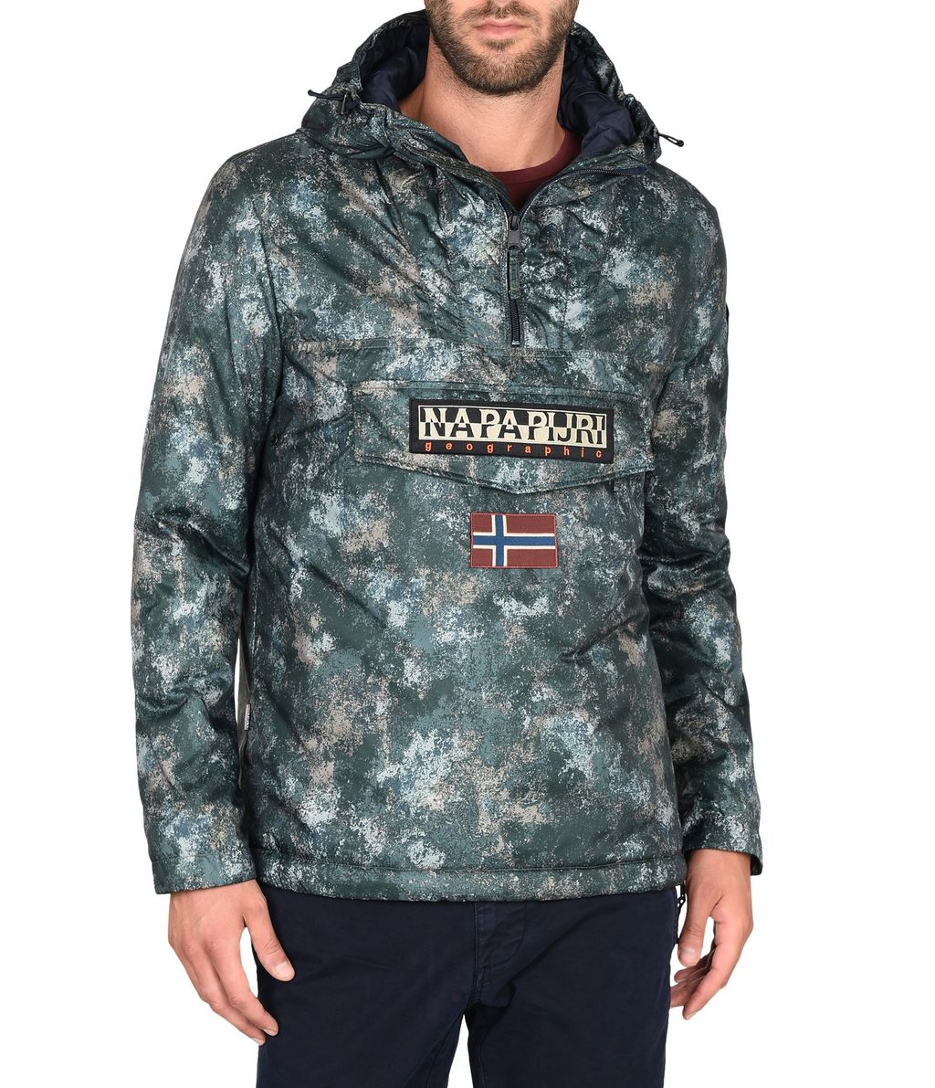 NAPAPIJRI RAINFOREST EXCLUSIVE MAN RAINFOREST,VERT MILITAIRE