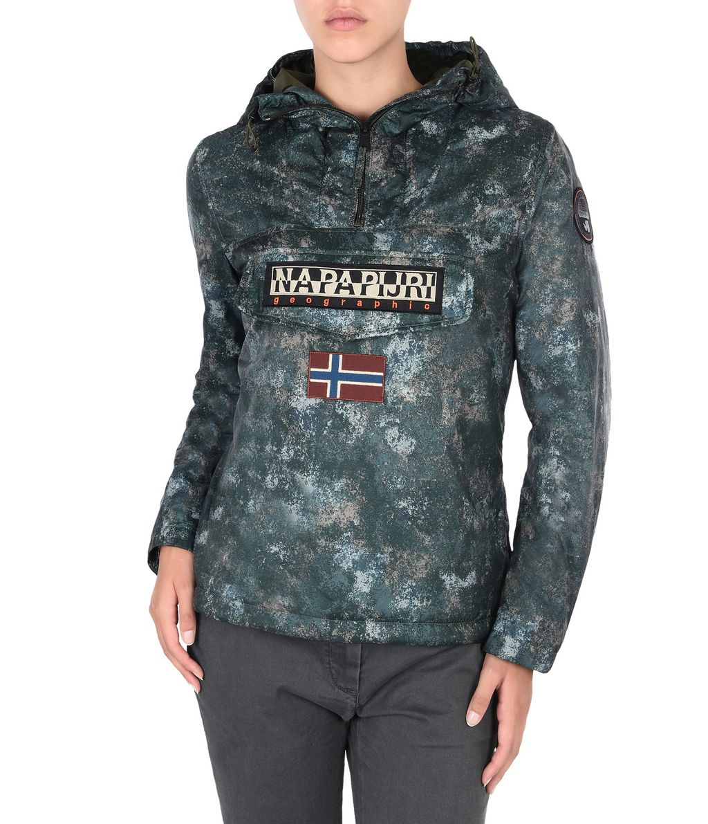 NAPAPIJRI RAINFOREST EXCLUSIVE WOMAN RAINFOREST,VERT MILITAIRE
