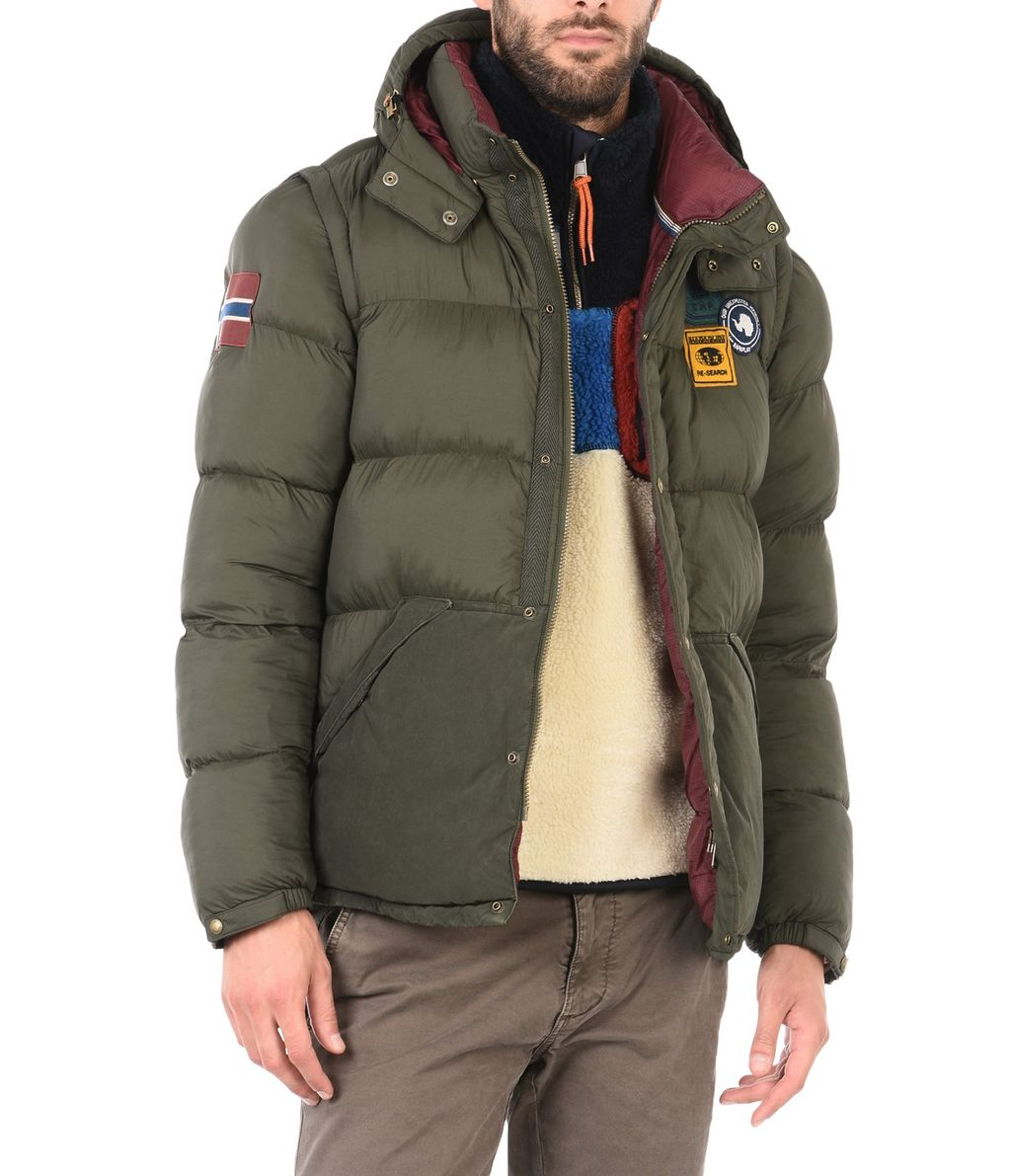 NAPAPIJRI ARTIC 2IN1  MAN PADDED JACKET,MILITARY GREEN