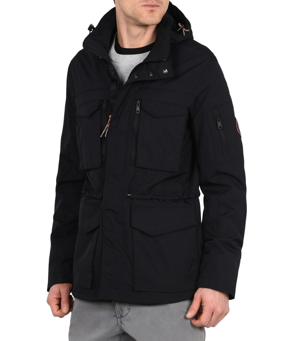 NAPAPIJRI AKLAVI 2IN1 MAN PARKA,BLACK